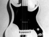 Old photo of the Supersound Double Cutaway Bass