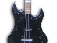 Recent photo of the Supersound Double Cutaway Bass
