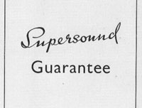 Supersound Guarantee Card 1