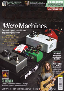 Cover to Guitar & Bass Magazine September 2015