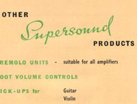 Supersound Music Accessories Promotional Leaflet